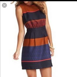 NWOT Loft Petite Mosaic Color block Dress